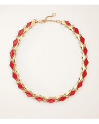 Ann Taylor - Geo Necklace - Lyst