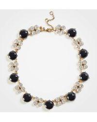 Ann Taylor - Crystal Clover Beaded Necklace - Lyst