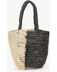 Ann Taylor - Fringe Straw Bag - Lyst