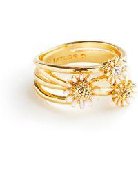 Ann Taylor Daisy Ring - Metallic