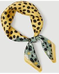 Ann Taylor Animal Print Silk Little Scarf - Green