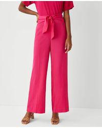 Ann Taylor The Sarong Wide Leg Pant - Pink