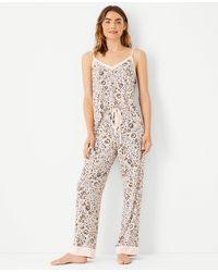 Ann Taylor Floral Pyjama Set - Multicolour