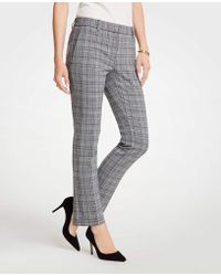 Ann Taylor - The Ankle Pant In Dash Plaid - Curvy Fit - Lyst