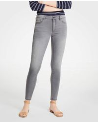 Ann Taylor - Petite Modern Skinny Jeans In Mid Grey Wash - Lyst