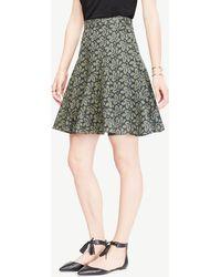 Ann Taylor | Petite Floral Eyelet Full Skirt | Lyst