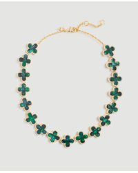 Ann Taylor Clover Necklace - Green