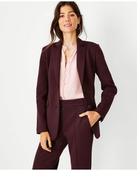 Ann Taylor The Petite Two Button Blazer In Double Knit - Red