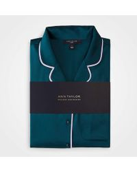 Ann Taylor Solid Pajama Set - Green