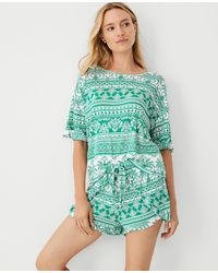 Ann Taylor Pineapple Pyjama Set - Green