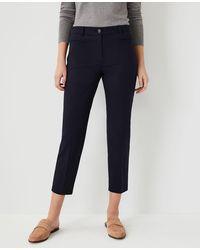 Ann Taylor The Cotton Crop Pant - Curvy Fit - Blue