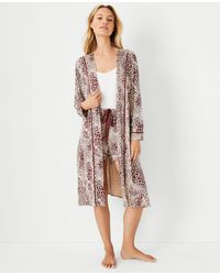 Ann Taylor Mixed Animal Print Robe - Multicolour