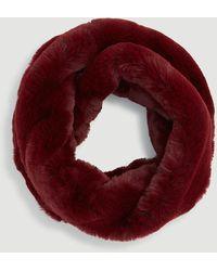 Ann Taylor Faux Fur Snood - Red