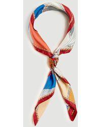 Ann Taylor Horse Silk Little Scarf - Multicolour