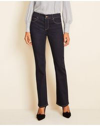 Ann Taylor Sculpting Pocket Boot Cut Jeans In Classic Rinse Wash - Blue