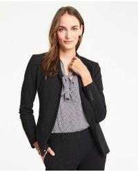 Ann Taylor The Petite Long Two-button Blazer In Seasonless Stretch - Black