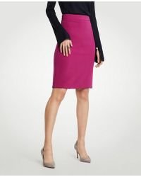 Ann Taylor - Curvy Doubleweave Pencil Skirt - Lyst