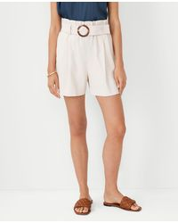 Ann Taylor The Petite Belted Paperbag Short - Multicolour