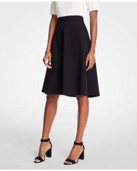 Ann Taylor - Petite Seamed Ponte Full Skirt - Lyst