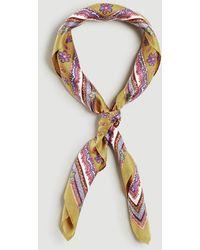 Ann Taylor Paisley Silk Little Scarf - Multicolour