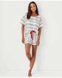 Ann Taylor Rainbow Striped Pyjama Set - Multicolour