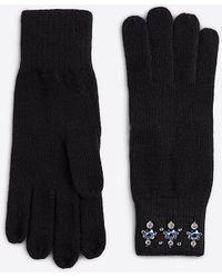 Ann Taylor - Embellished Knit Gloves - Lyst