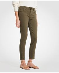 Ann Taylor - Modern Ankle Zip All Day Skinny Crop Jeans - Lyst