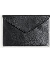 Ann Taylor - Leather Envelope Clutch - Lyst