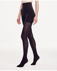 Ann Taylor High Waist Control Top Tights - Black