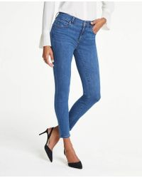 Ann Taylor - Performance Stretch Skinny Jeans In Classic Blue Wash - Lyst