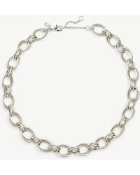 Ann Taylor Rope Chain Link Statement Necklace - Metallic