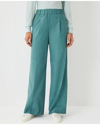 Ann Taylor The Flannel Wide Leg Pull On Pant - Multicolor