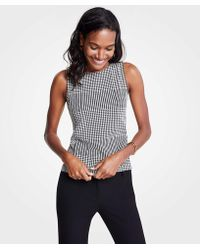 Ann Taylor - Houndstooth Shell - Lyst