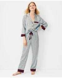 Ann Taylor Horse Print Pyjama Set - Multicolour