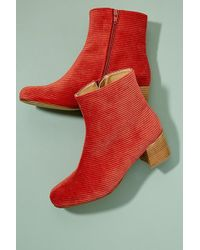 Anthropologie - Tessa Corduroy Ankle Boots - Lyst