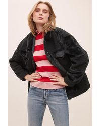 Levi's - Patchworked Faux-fur And Shearling Trucker Jacket - Lyst