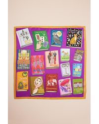 Karen Mabon Illustrated Silk Scarf - Multicolour