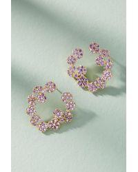 Serefina - Flora Hooped Post Earrings - Lyst