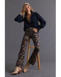 Anthropologie Icon Flare Printed Corduroy Trousers - Multicolour