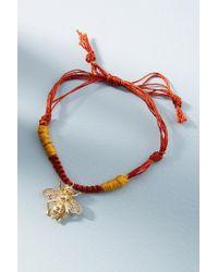 Anthropologie - Woven Charm Bracelet - Lyst