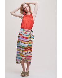 Bl-nk Jupe portefeuille rayée Harnie - Multicolore
