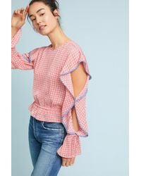 The Fifth Label - Juliette Ruffled Gingham Top - Lyst