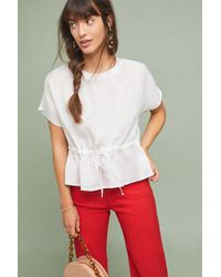 Cloth & Stone - Waisted Linen Top - Lyst