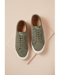 Spring Court Corduroy Low-top Trainers - Grey
