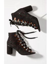 Vanessa Wu - Lace-up Gladiator Block Heels - Lyst