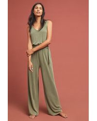cab425840b8a Anthropologie - Peregrinate Belted Jumpsuit - Lyst