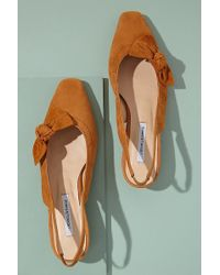 Anthropologie About Arianne Galo Bow-detailed Suede Heels - Orange