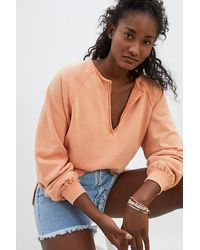 Pilcro Kim Henley Pullover - Orange
