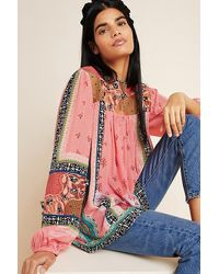 Bhanuni by Jyoti Rosario Embroidered Blouse - Pink