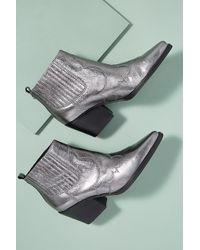 Sam Edelman - Metallic-leather Cowboy Boots - Lyst